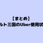 【まとめ】バルト三国のUber使用状況